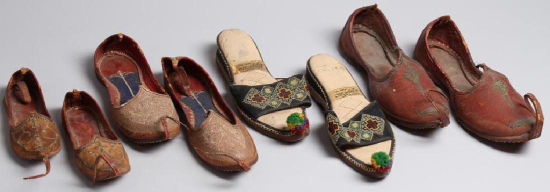 "4 Pairs of Vintage Turkish ""Aladdin Slipper"" Shoes"