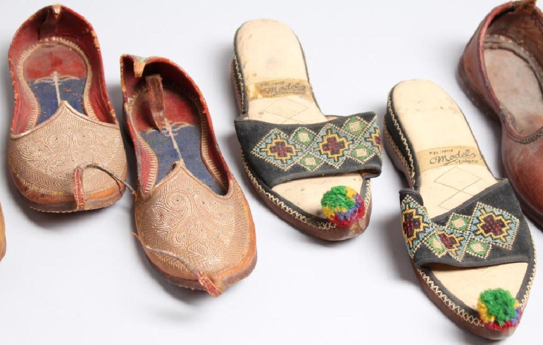 "4 Pairs of Vintage Turkish ""Aladdin Slipper"" Shoes - 3"
