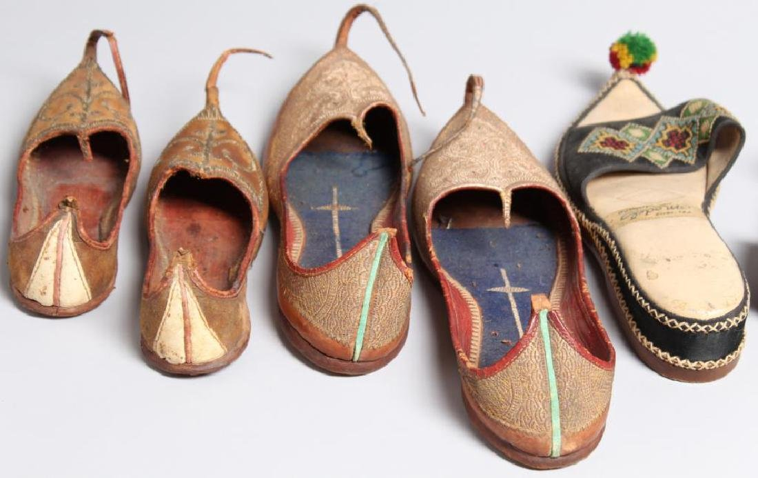 "4 Pairs of Vintage Turkish ""Aladdin Slipper"" Shoes - 5"