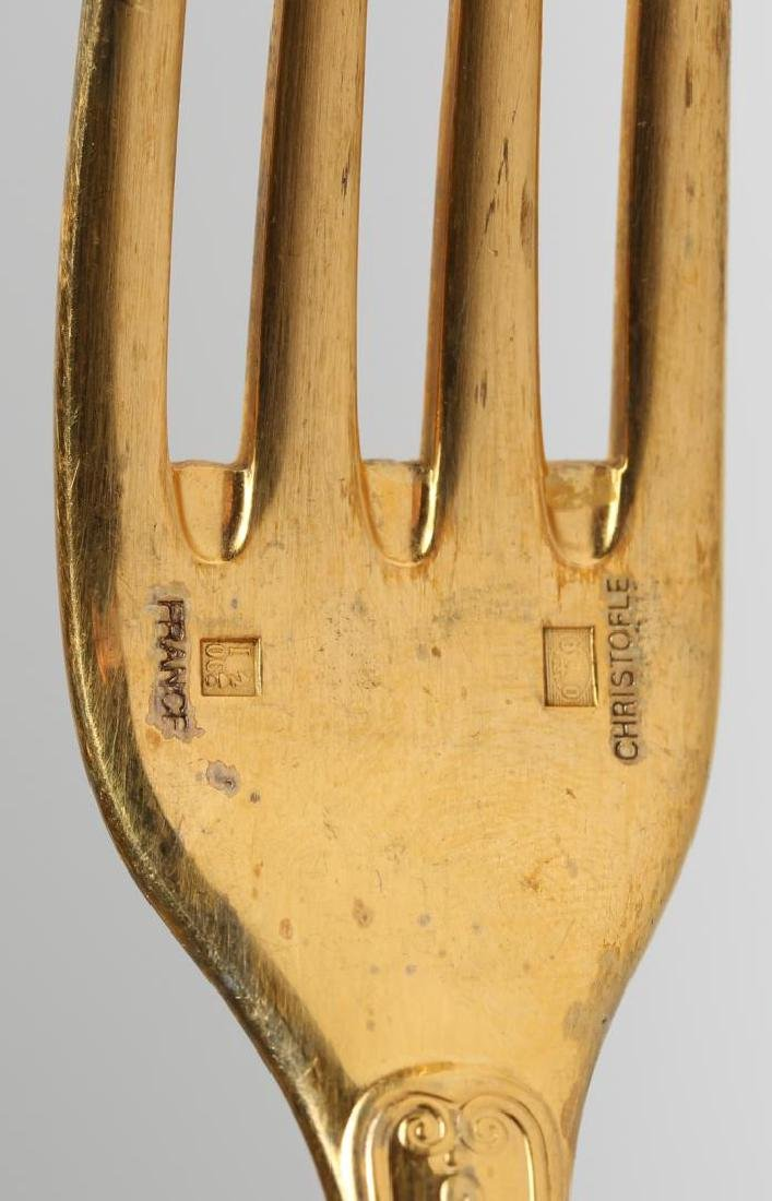 2 Christofle Gold-Plated Flatware Place Settings - 5