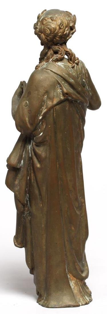Gilt Brass Figure of Clio, Greek Muse of History - 4
