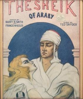 Framed 1921 Sheet Music, The Sheik of Araby