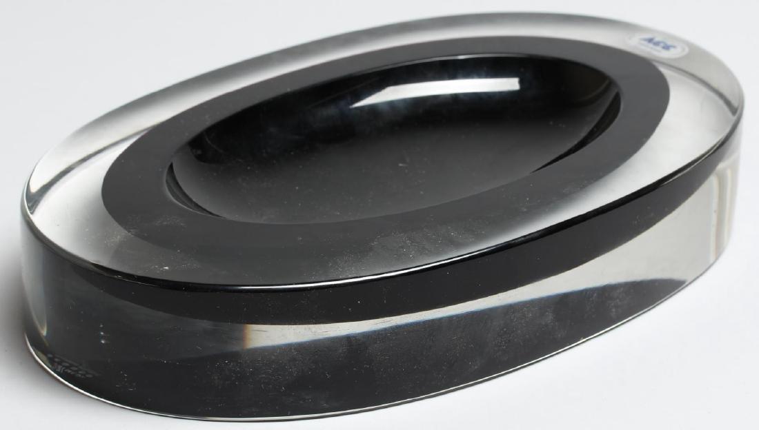 Seguso Murano Crystal & Cobalt Vide Poche - 3
