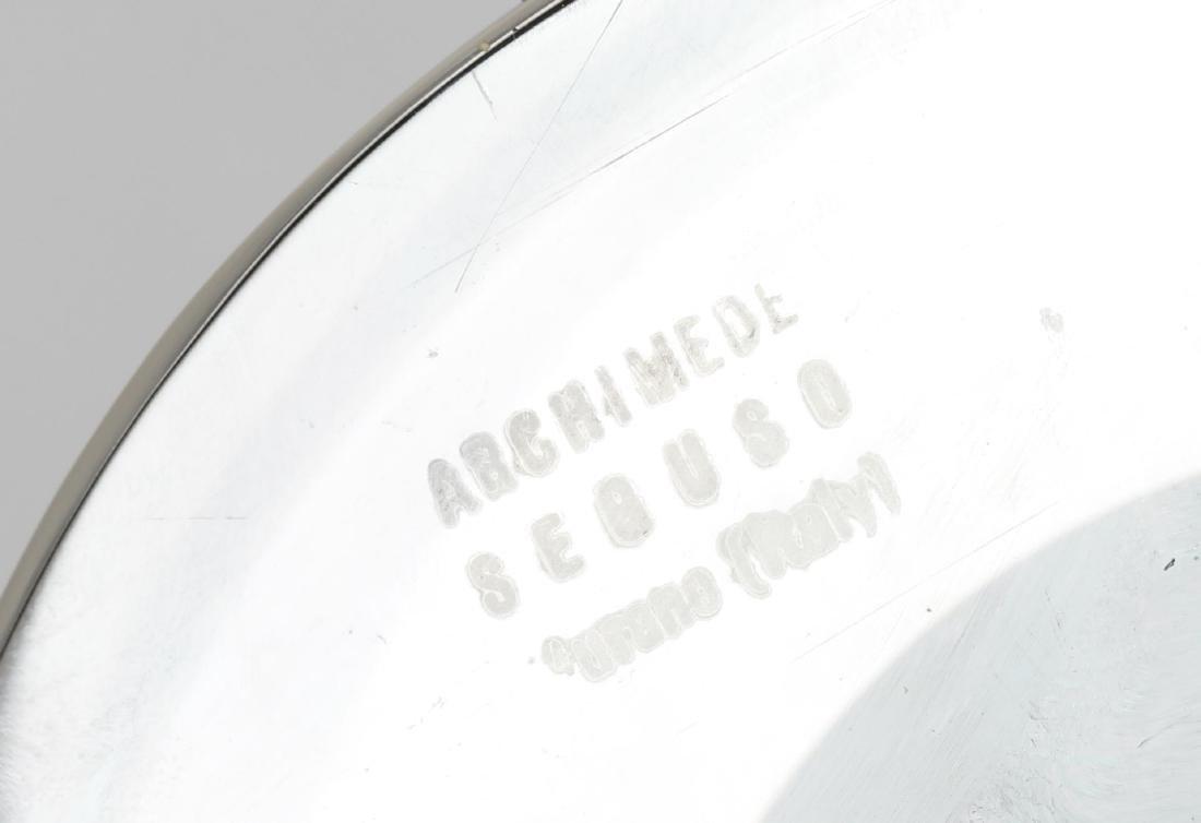 Seguso Murano Crystal & Cobalt Vide Poche - 4