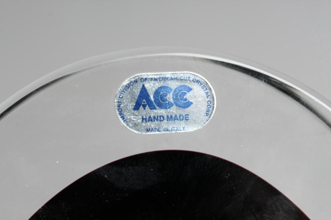 Seguso Murano Crystal & Cobalt Vide Poche - 5