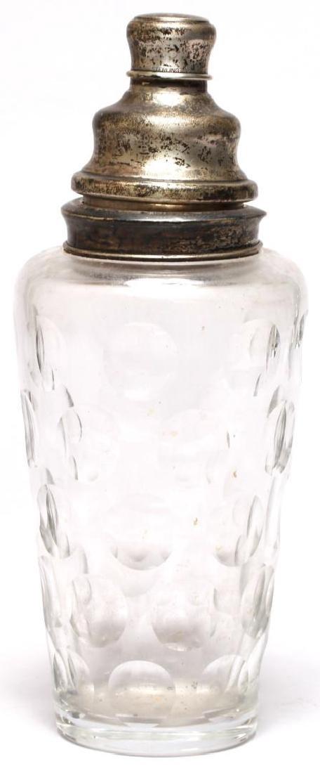 Silver & Cut Glass Shaker, Possibly Hanau