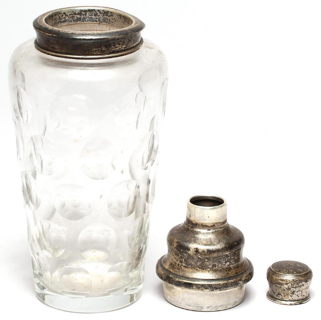 Silver & Cut Glass Shaker, Possibly Hanau - 2