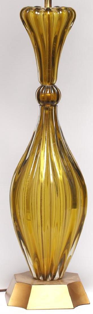 Mid-Century Modern Murano Art Glass Lamp