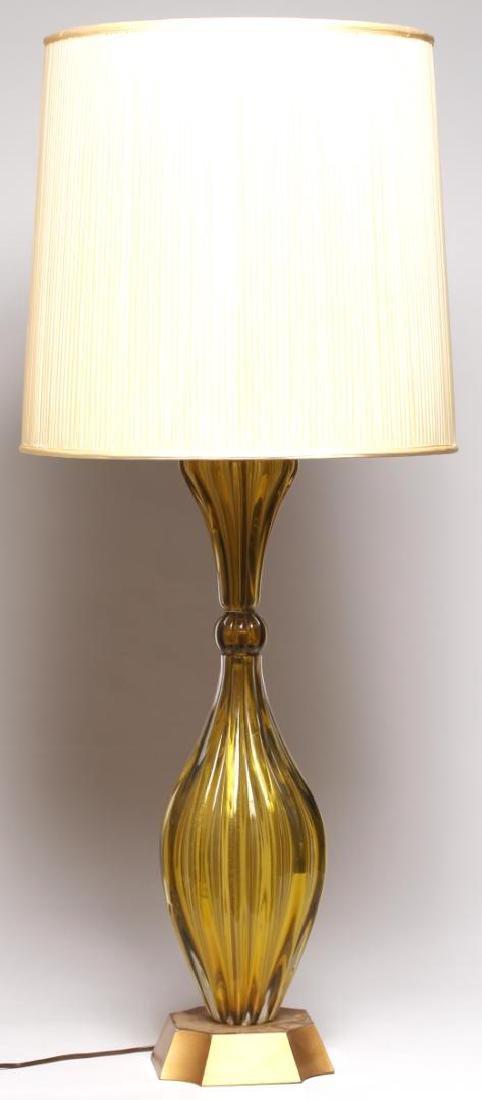 Mid-Century Modern Murano Art Glass Lamp - 2