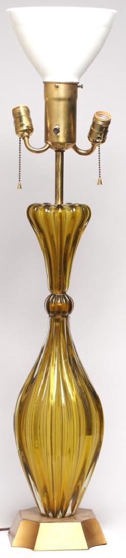 Mid-Century Modern Murano Art Glass Lamp - 3