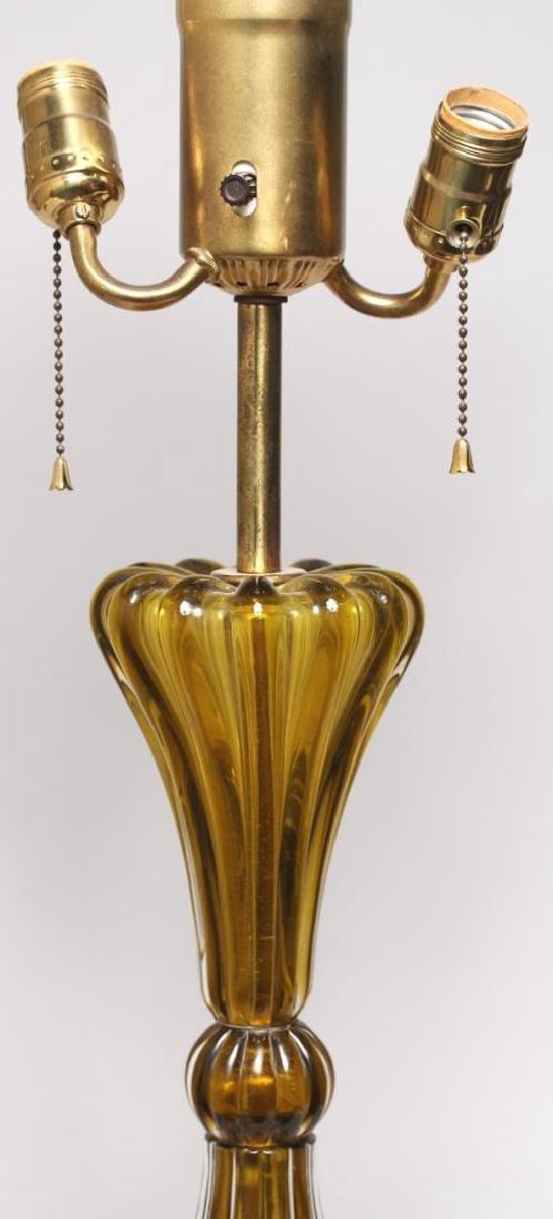 Mid-Century Modern Murano Art Glass Lamp - 4