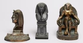 3 Vintage Ancient Egyptian-Style Figures