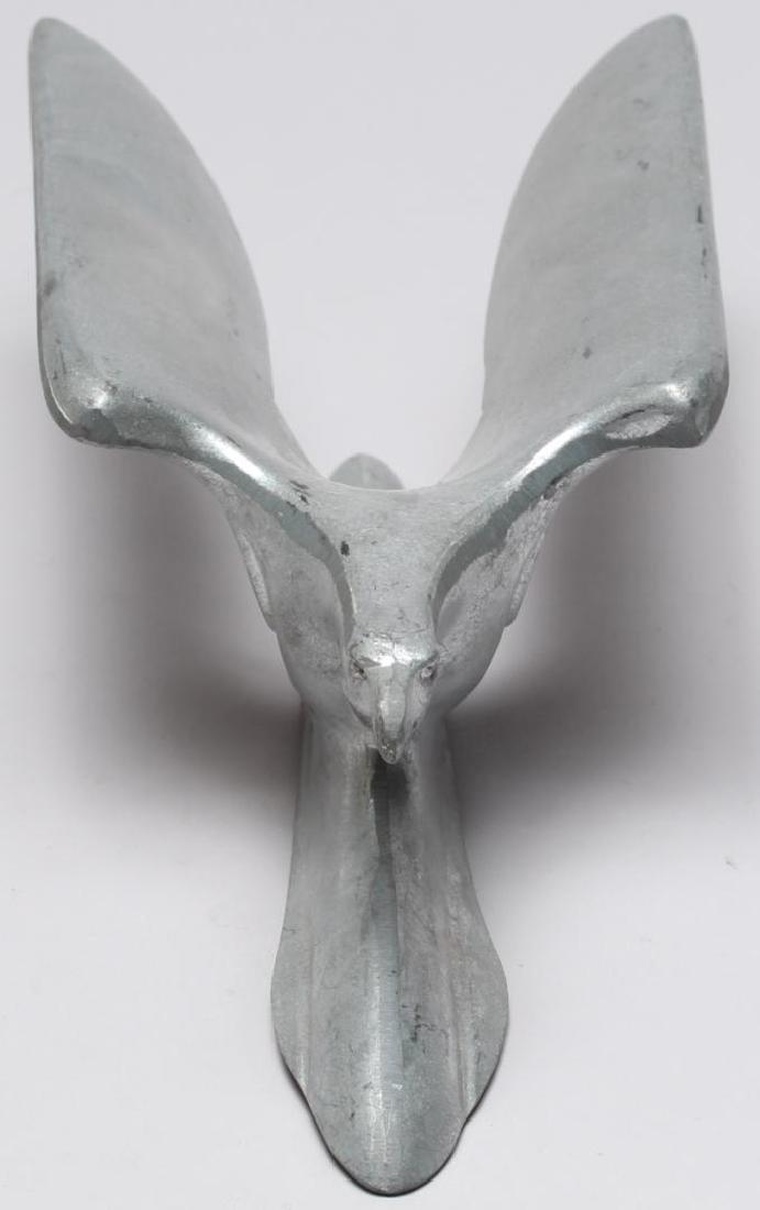 Art Deco Aluminum Eagle Hood Ornament - 3