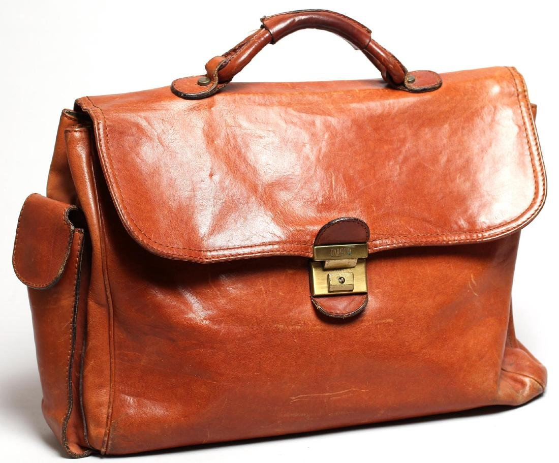 Vintage Italian Leather Soft-Sided Briefcase