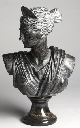Italian Marble Tabletop Bust of a Roman Matron