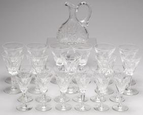 "23 Waterford ""Sheila"" Crystal Cordial & Port Glass"