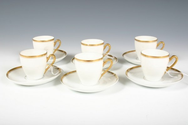 11: Set of 6 Bavarian H & Co Selb Espresso Cups & Sauce
