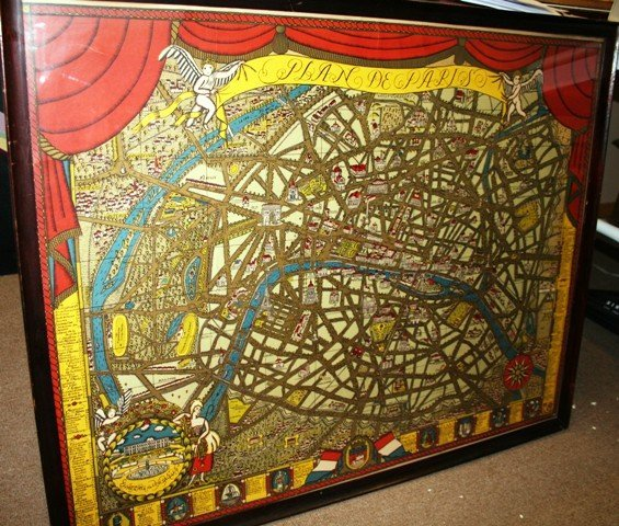 156: Ilonka Karasz American Art Deco Map Plan de Paris