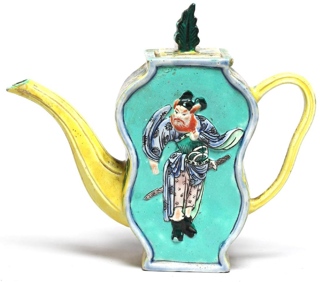 Chinese Hand-Painted Porcelain Teapot, 1920s