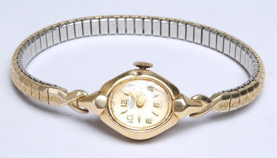 Waltham 14K Gold Lady's Watch with Stainless Band