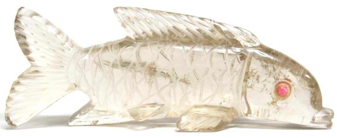 Carved Rock Crystal Fish