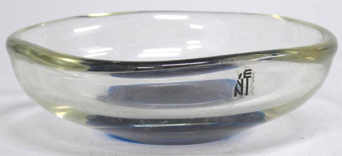 Venini Mid-Century Modern Murano Glass Dish