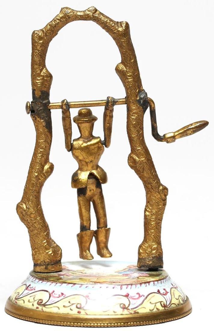Antique Vienna Enamel Articulated Miniature