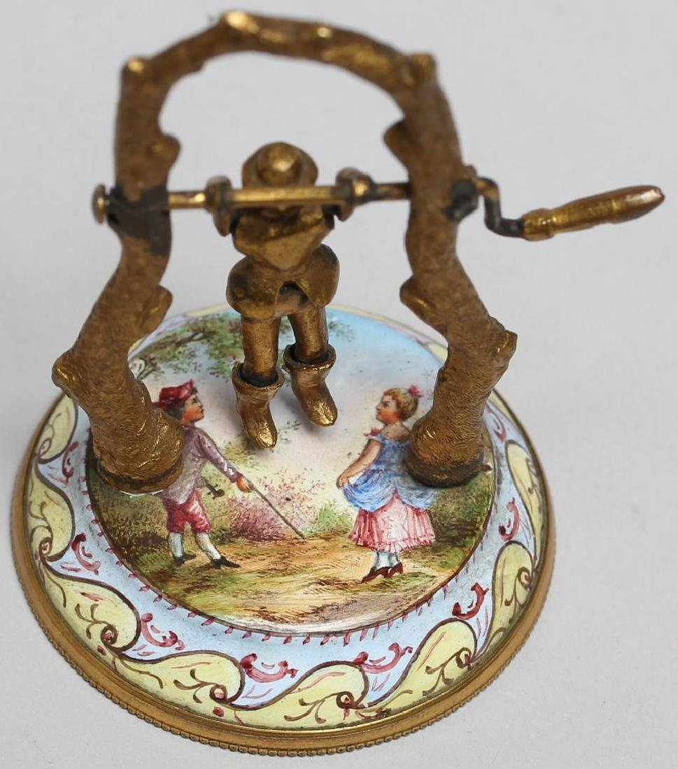 Antique Vienna Enamel Articulated Miniature - 3
