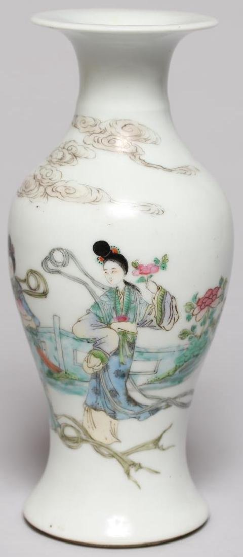 Small Chinese Hand-Painted Baluster Vase