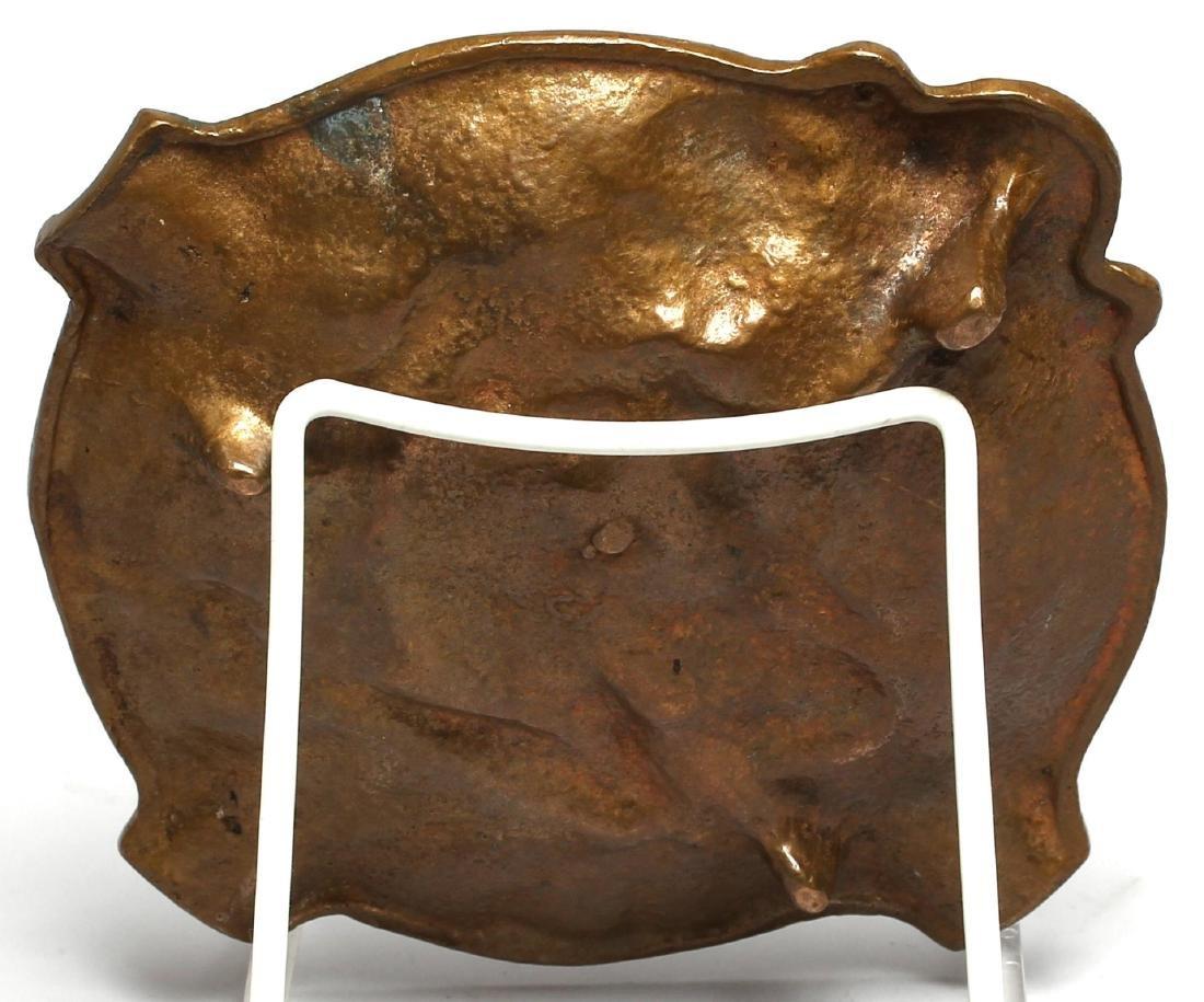 "Art Nouveau Figural Bronze ""Nude"" Cigar Ashtray - 3"