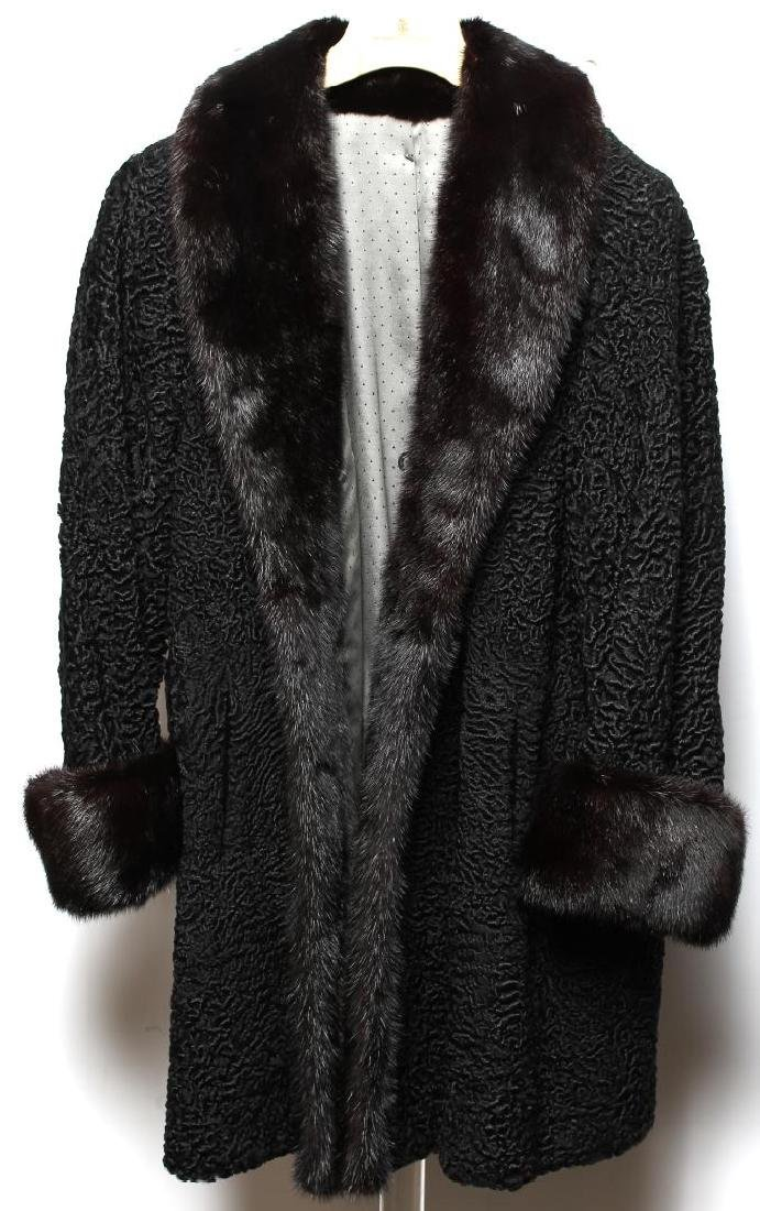 Persian Lamb & Fur-Trimmed Woman's Coat