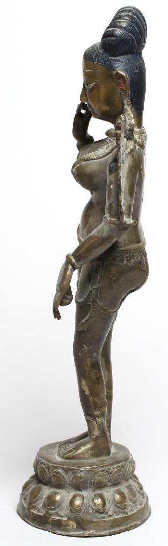 Silver-Tone Figure of Parvati, Chola Period-Style - 2
