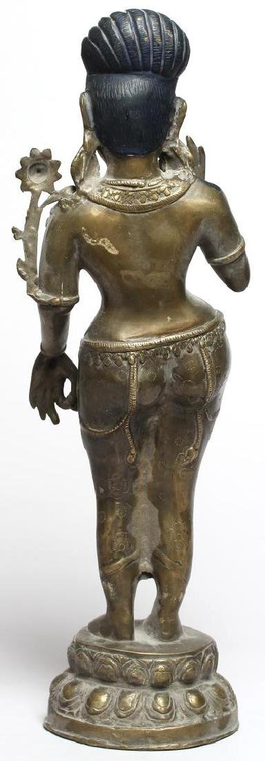 Silver-Tone Figure of Parvati, Chola Period-Style - 3