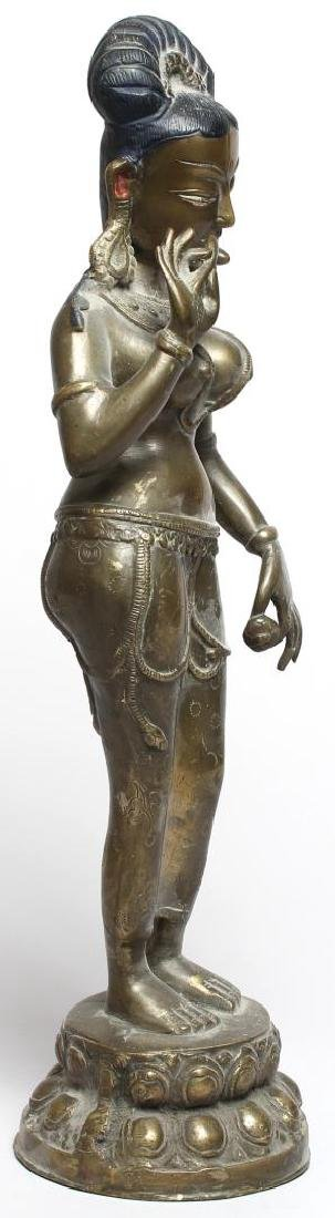 Silver-Tone Figure of Parvati, Chola Period-Style - 4
