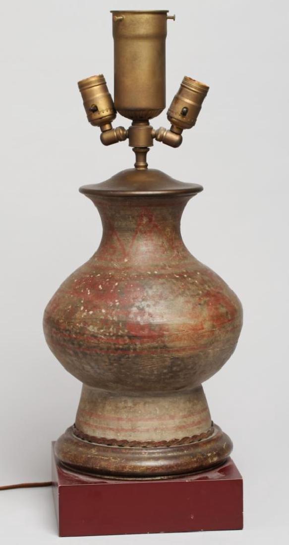 Chinese Han Dynasty Hu Vessel Lamp