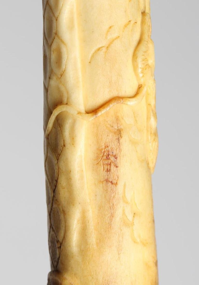 Chinese Carved Bone-Handled Magnifying Glass - 4