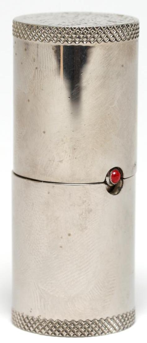 "Vintage Skagen Quartz ""Lipstick Tube"" Travel Clock - 2"