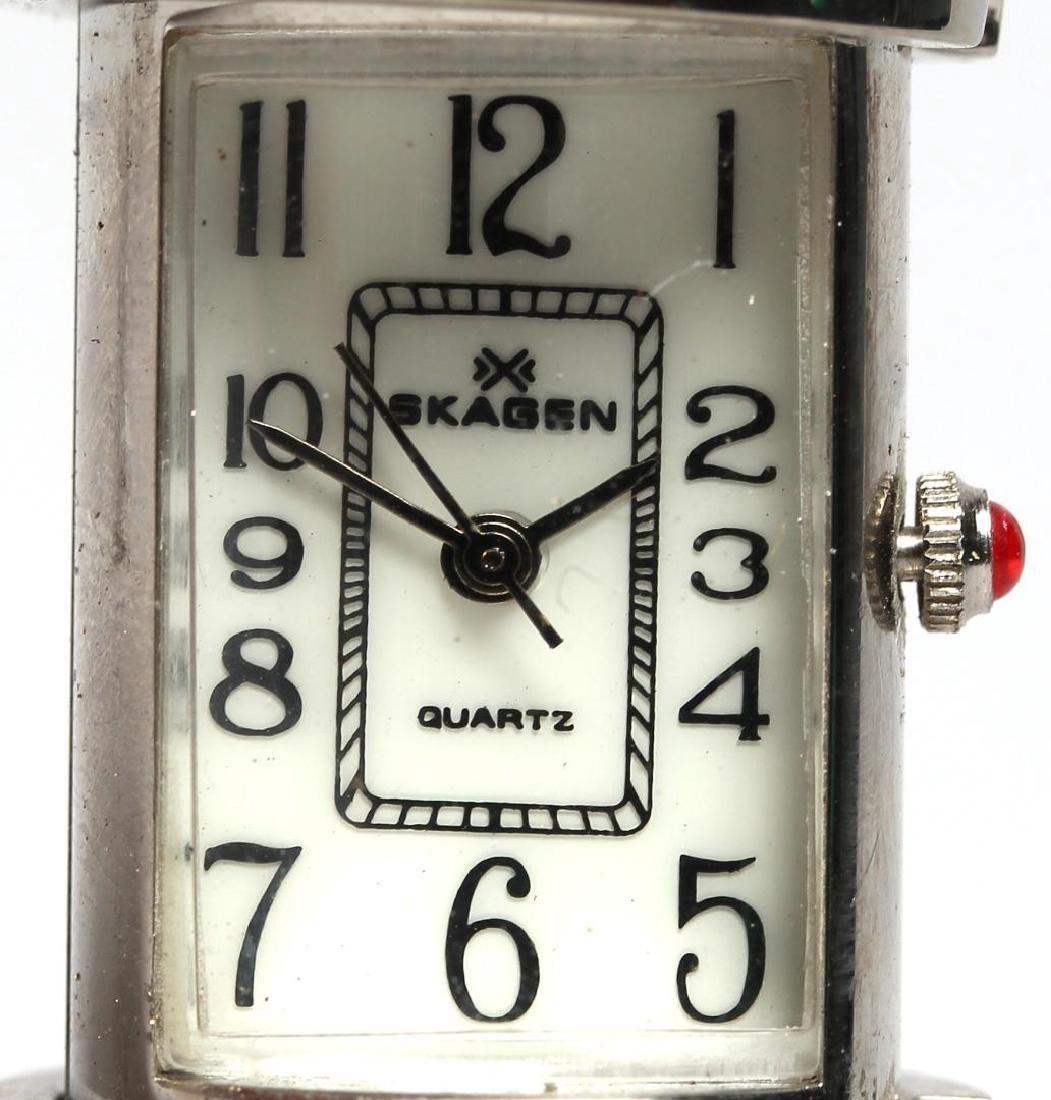 "Vintage Skagen Quartz ""Lipstick Tube"" Travel Clock - 4"