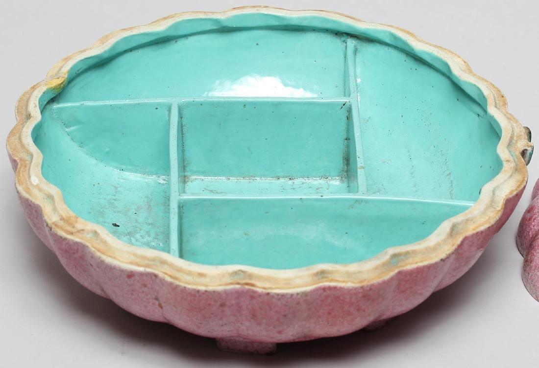 Chinese Glazed Porcelain Pumpkin Jewel Box - 3