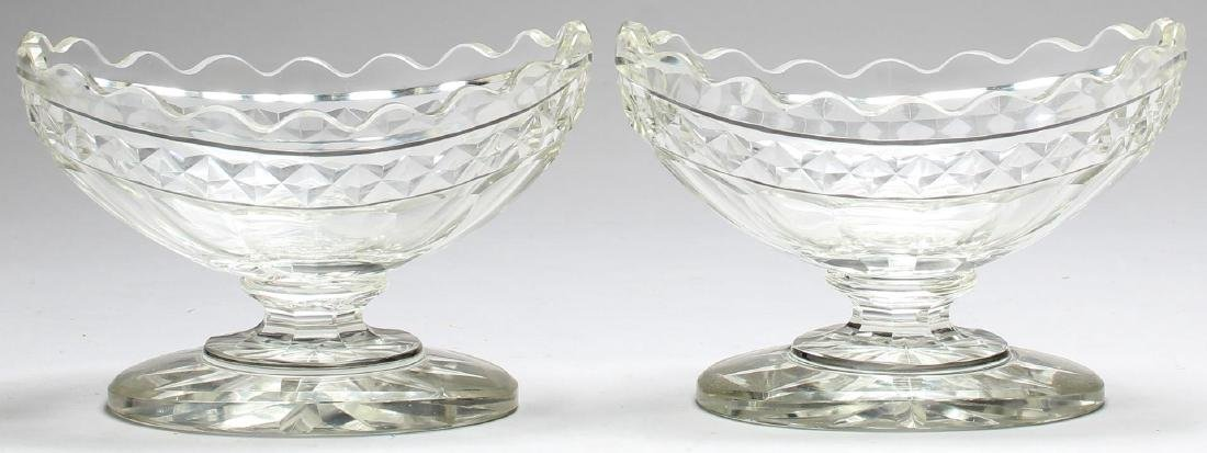 5 Vintage Colorless Cut Glass Serving Pieces - 2
