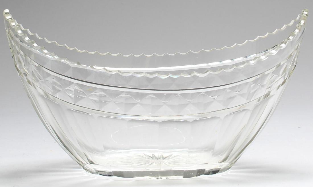 5 Vintage Colorless Cut Glass Serving Pieces - 3