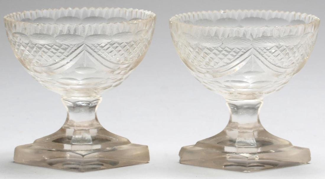 5 Vintage Colorless Cut Glass Serving Pieces - 4