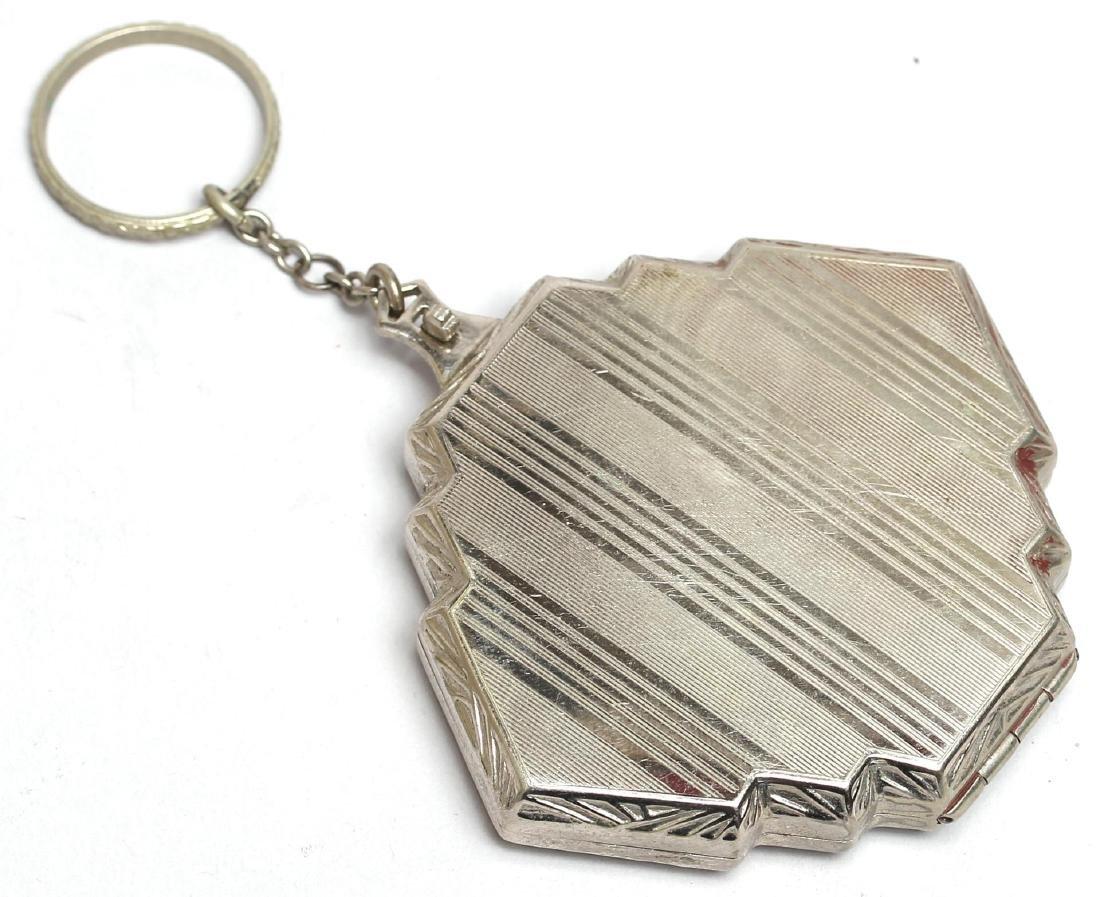 Art Deco Woman's Compact / Key Chain - 3