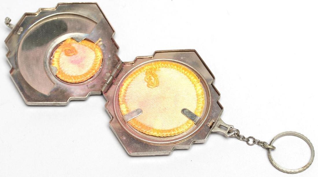 Art Deco Woman's Compact / Key Chain - 4