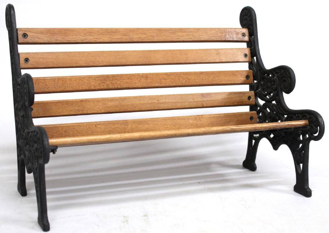 Miniature Cast Iron & Wood Bench