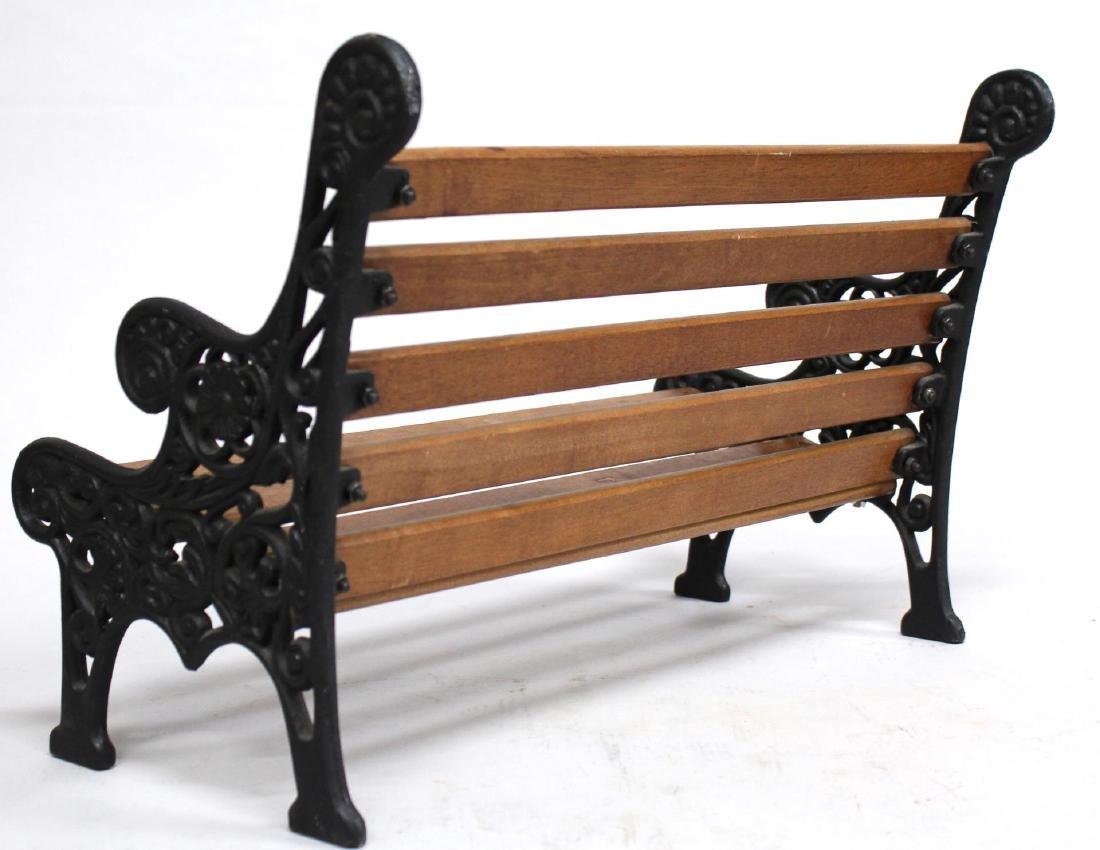 Miniature Cast Iron & Wood Bench - 3