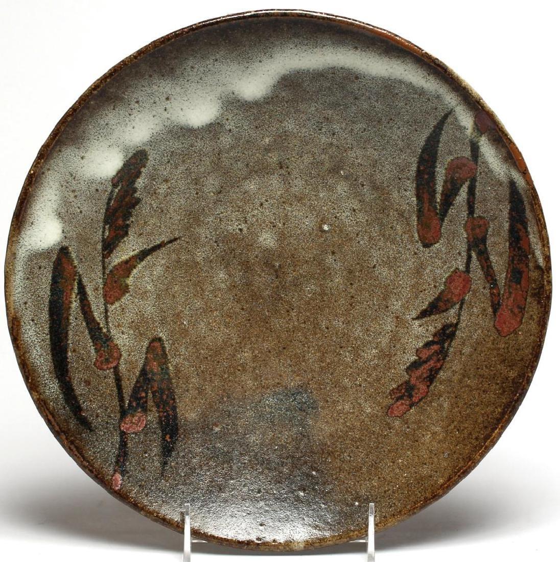 Japanese Slip-Glazed Pottery Dish - 3