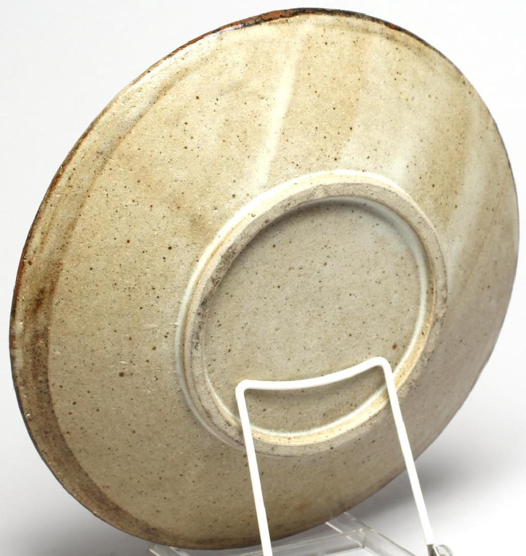 Japanese Slip-Glazed Pottery Dish - 4