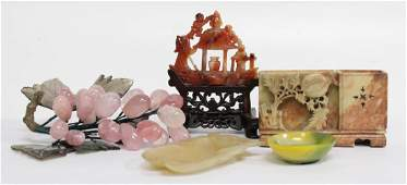 Group of Carved Chinese Hardstone Items