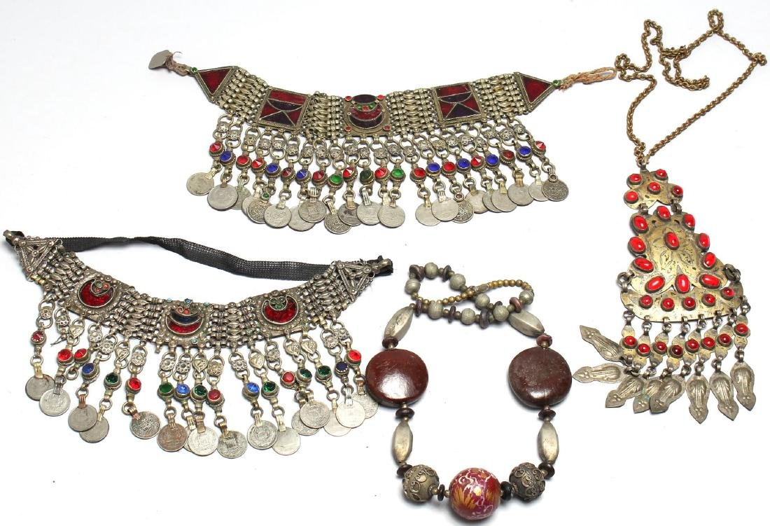 4 North African Tribal Jewelry Pieces